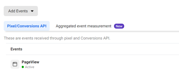 Facebook aggregated event measurement tab